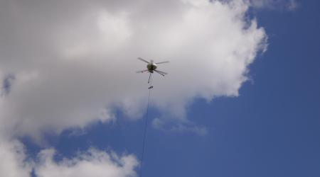 Tethered Mini UAV for Permanent Surveillance