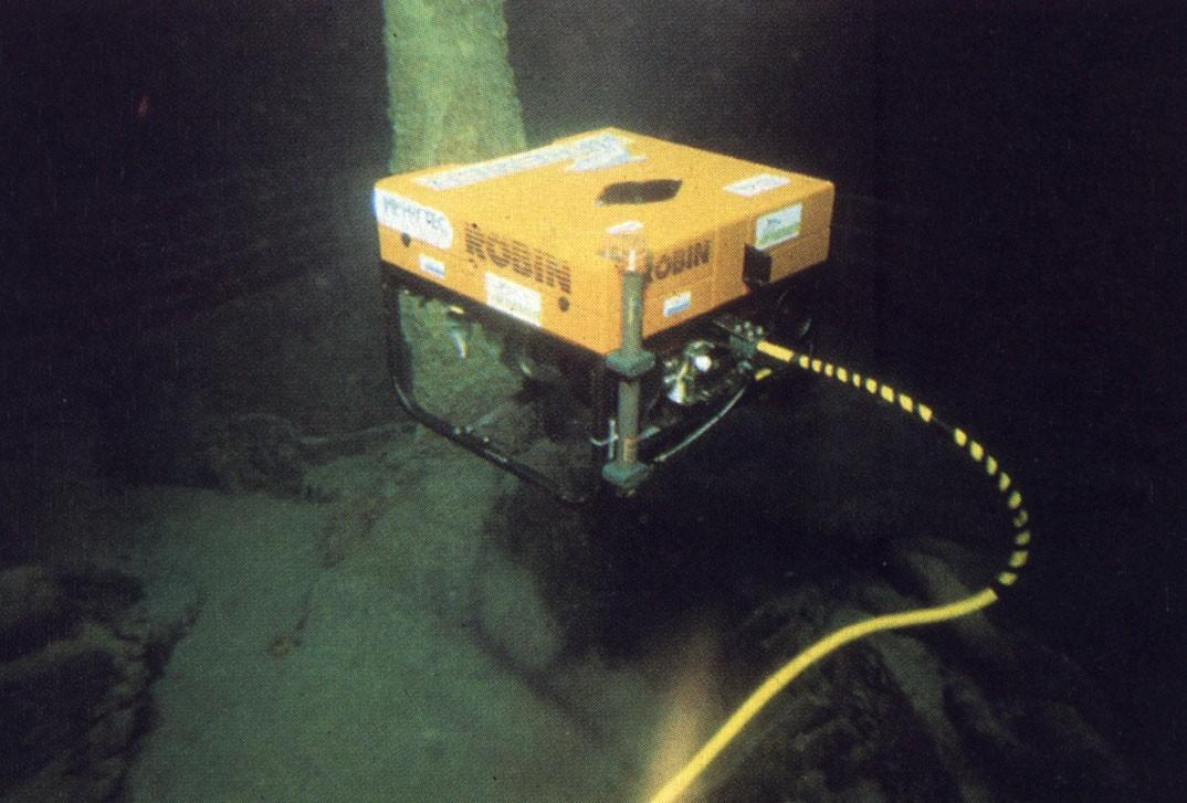The ROV ROBIN designed by HYTEC (now part of ECA Group)