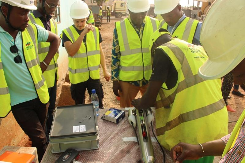 ECA Group supplies a BH VIEWER 200  borehole inspection TV system for public works in Benin
