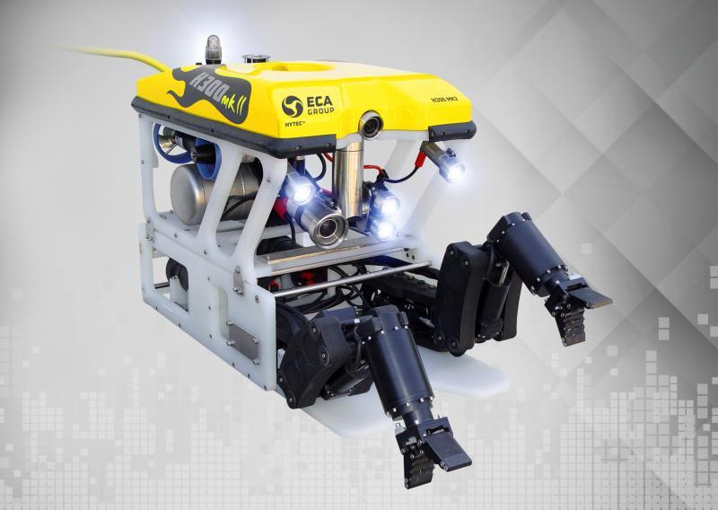 ECA Group ROV H800 with its electric manipulator arm 5 E MICRO