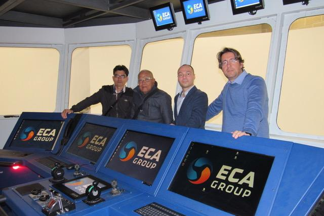 ECA GROUP has presented its MISTRAL 4000 Simulator System to the representatives of Maritime Academy of Sapta Samudra from Indonesia