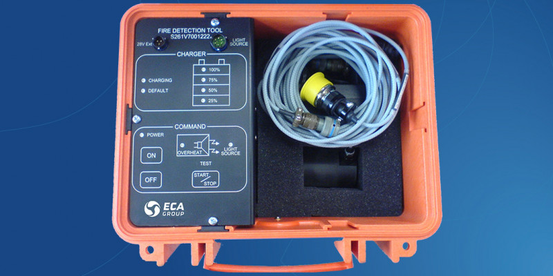 Optical fire detection tool for Aerospace Ground Support Equipment (MGSE & EGSE)