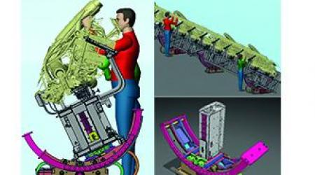 ECA GROUP - ASSEMBLY LINES MODULES - Ergonomics modules of assembly lines for Airbus in Germany