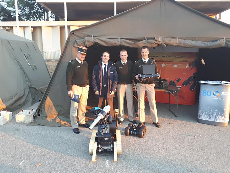 ECA Group present its UGV solutions at the Nationals of the Draguignan Infantery troops