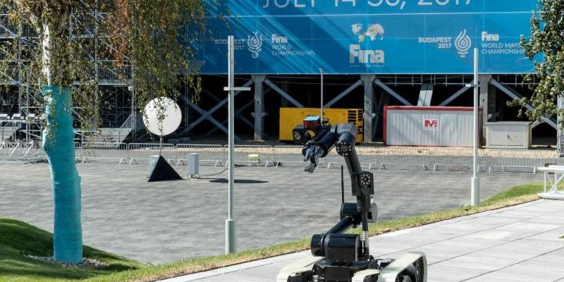 ECA Group delivered 2 CAMELEON EOD robots to secure the 17th FINA World Championships