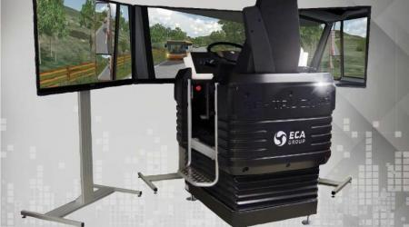 ECA GROUP - SIMULATION - DRIVING SIMULATOR fond gris