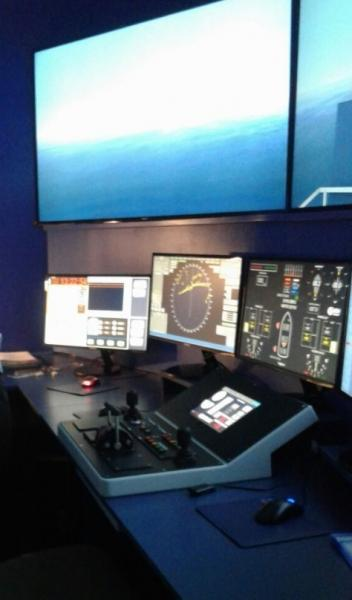 ECA GROUP bridge simulator MISTRAL 4000 type certified by DIRECTEMAR, the General Directorate for Merchant Navy in Chile