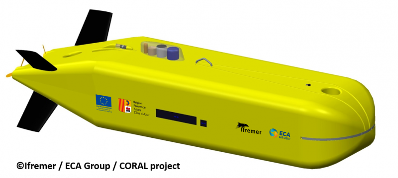 ECA - Ifremer - Coral project - AUV 6000 m - A6K