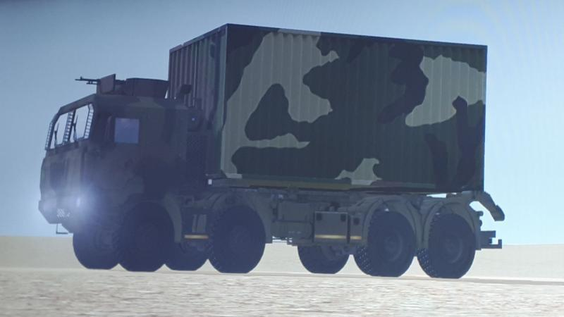 ECA Group presents its latest Land forces Logistics Heavy Vehicle simulator for convoy missions at SIMOPS 2018