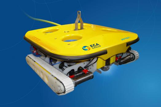 Eca Group ROVINGBAT Hybrid ROV crawler for hull inspection, local cleaning, NDT, and UWILD operations