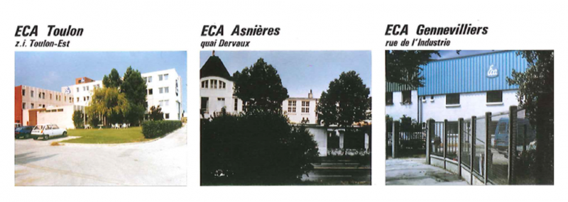 ECA Group offices in the Paris area; mechanical production plant in Asnières and the sheet-metal plant in Gennevilliers