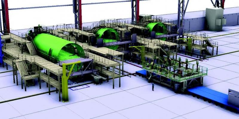 Aircraft assembly by laser tracking measurment