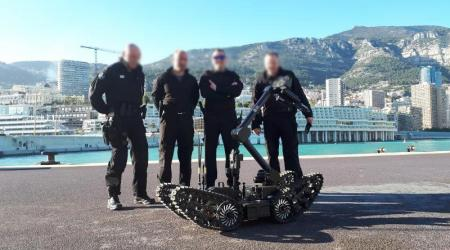 The Public Security of Monaco with ECA Group's IGUANA E unmanned ground vehicle