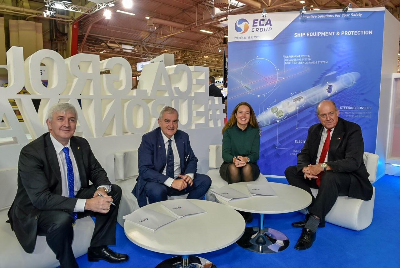 ECA Group signing at Euronaval 2018: AMOG and THYCON