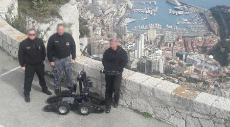 Delivery of a new IGUANA UGV to the Monaco Police