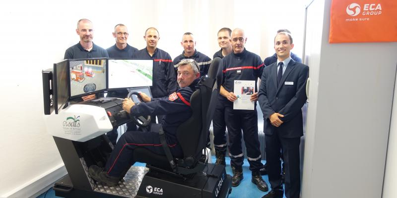 ECA Group supports French Fire & Rescue Service with Emergency Driving Simulator
