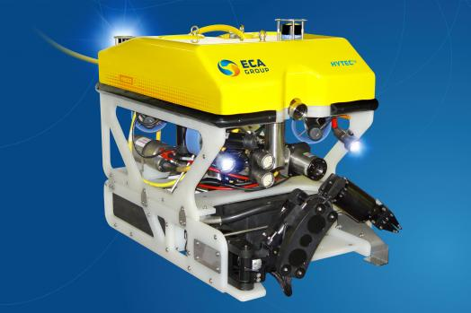 ECA-Group-ROV-H800-WITH-ELECTRIC-5-FUNCTION-MANIPULATOR-ARM-ON-SKID