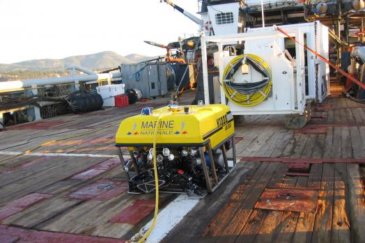 Eca Group ROV H1000 system on board