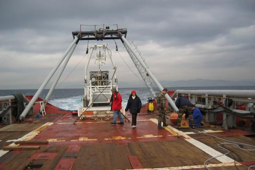 Eca Group ROV H1000 LARS Launch and Recovery System on board