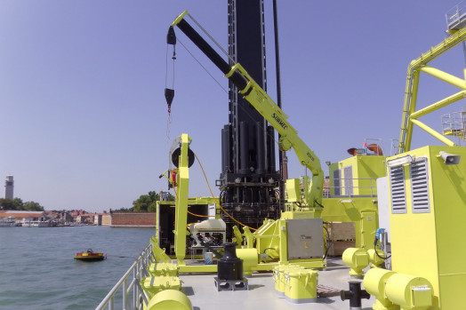 Eca Group ROV H1000 for Venice MOSE mobile barriers protection system