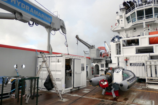 Eca Group ROV H2000 System Deployment on board