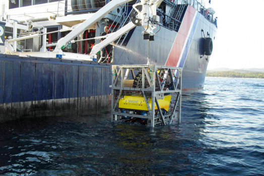 Eca Group ROV H2000 Launch and Recovery System LARS and TMS Tether Management System cage
