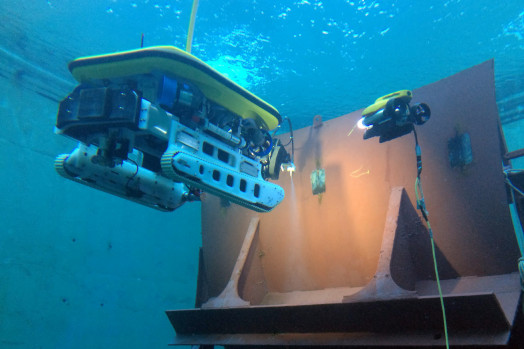Eca Group ROVINGBAT Hybrid ROV crawler for operations on vertical structures