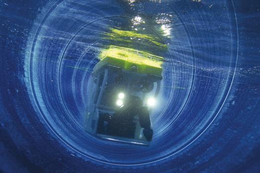 ECA Group ROV H300V large bore pipe inspection