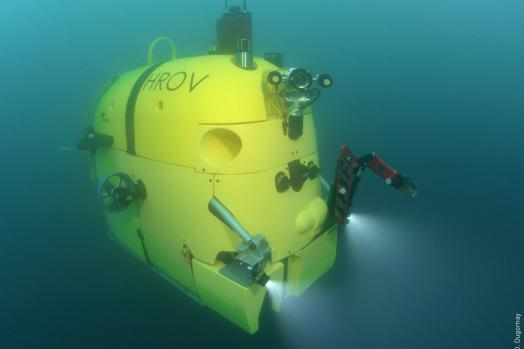ECA Group ARM 5E 5-function electric manipulator mounted on HROV