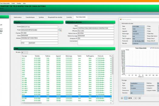 Eca Group CANASOFT software for edition of pipe inspection report
