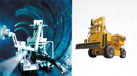 Large Bore Pipes Tv Inspection, Measurement and Cleaning
