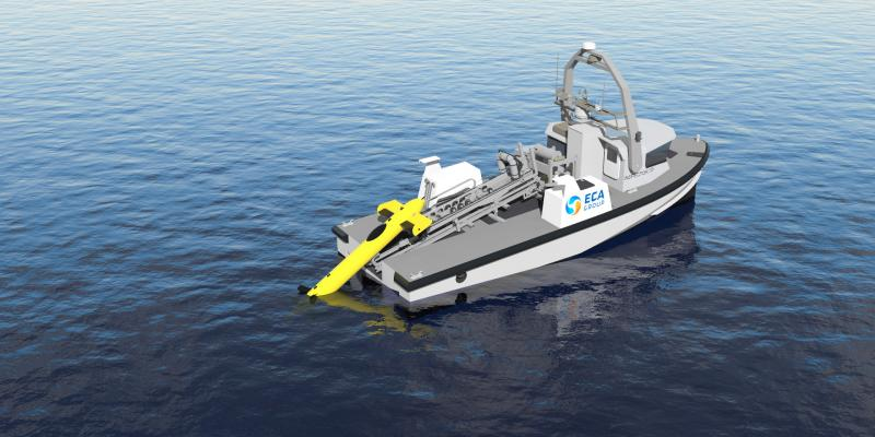 The Belgian and Royal Netherlands navies choose ECA GROUP's USV INSPECTOR 125 to show the path of stand-off mine clearance at sea